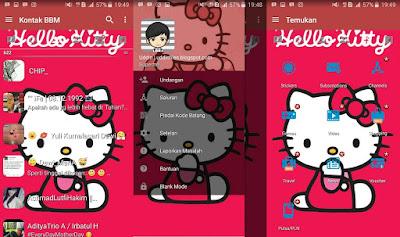 BBM Mod Hello Kitty Pink V3.2.0.6 Apk