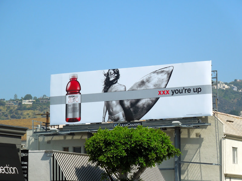 Vitamin Water surfer billboard