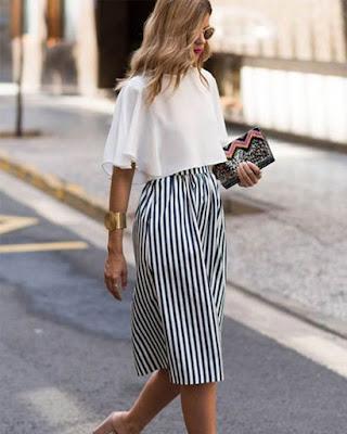 outfit con falda para el trabajo