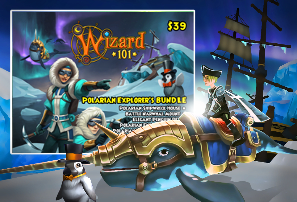 Wizard101 Polaris / Polarian Explorer's Bundle Card - GameStop