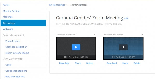 Downloading and Sharing Cloud Recordings Video