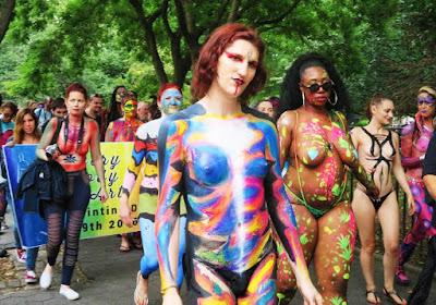 nude in carnival festival