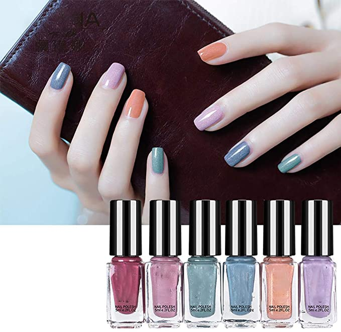70%  off 6Pcs/pack 6ML Nail Polish Fast Dry Long-lasting Nail Art Gel Nail Polish