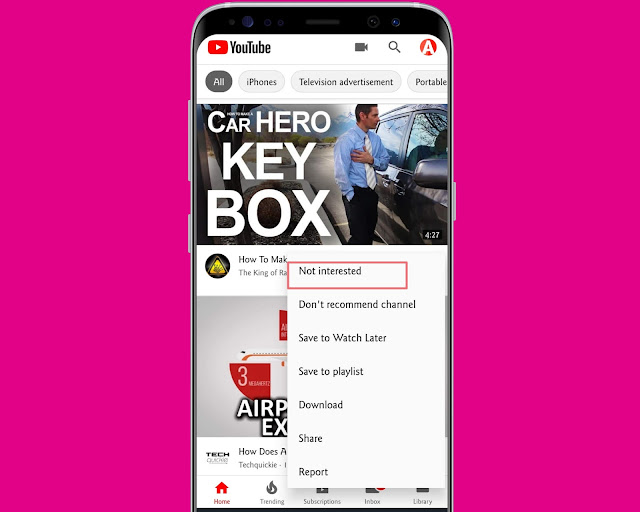 Not Interested - YouTube Features, Tips And Tricks