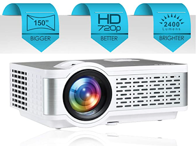 "Egate I9 Real HD 720p with 150"" Large Display LED Projector for Your Own Home Theater with ability to connect to virtually any media device"