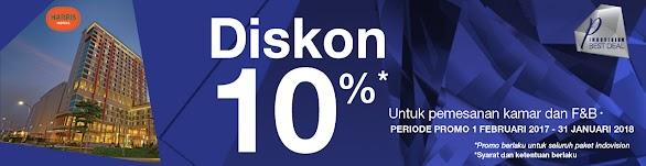 HARRIS Hotel Diskon 10% Dari Indovision Priority