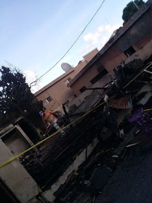 Casa se Incendia en la Calle 16 de agosto de San Jose de Ocoa