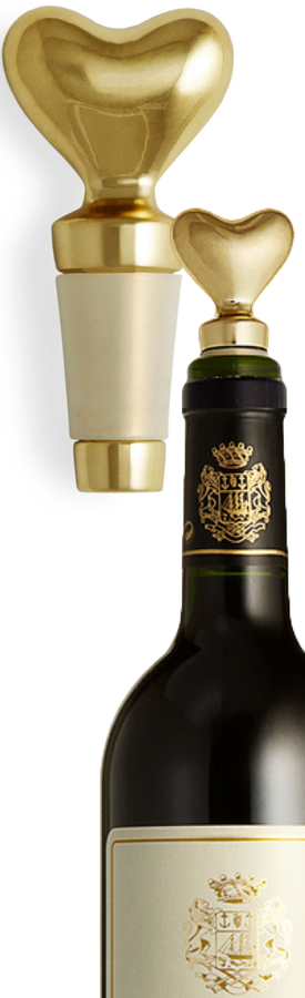 AERIN Brass Heart Bottle Stopper