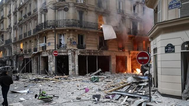Ισχυρή έκρηξη στο Παρίσι - Τουλάχιστον 20 τραυματίες (photos & video)