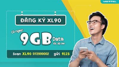 Gói cước 3G/4G LX90 Viettel