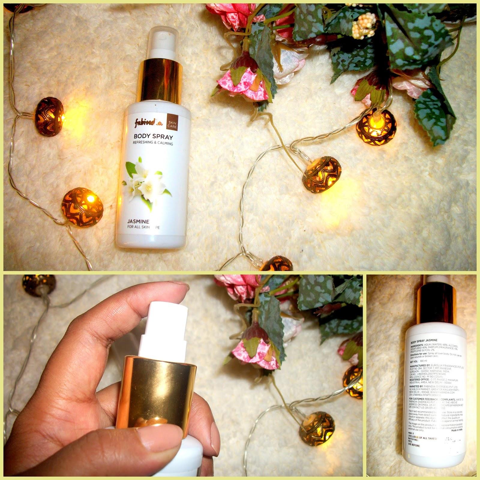 Welcome to BeautyAndTheCode Blog Page !!: FabIndia Jasmine Body Spray -  Product Review   Shriya Sagdeo   Beautyandthecode