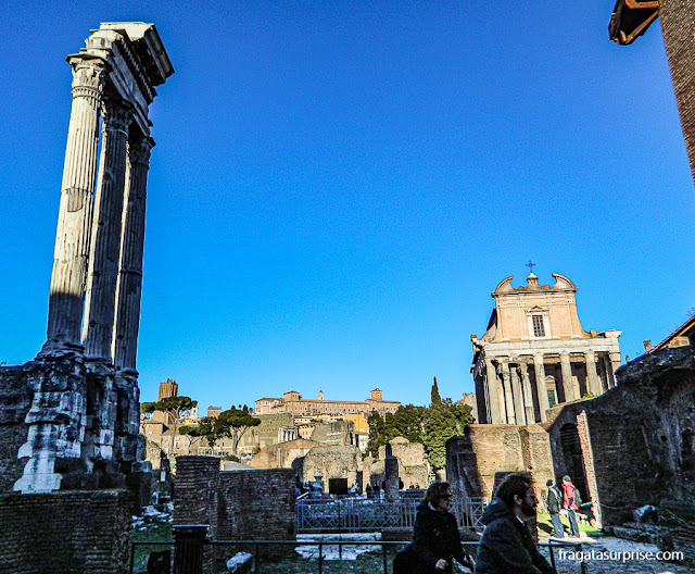 Fórum Romano: Templo de Castor e Pólux e Templo de Antonino Pio e Faustina