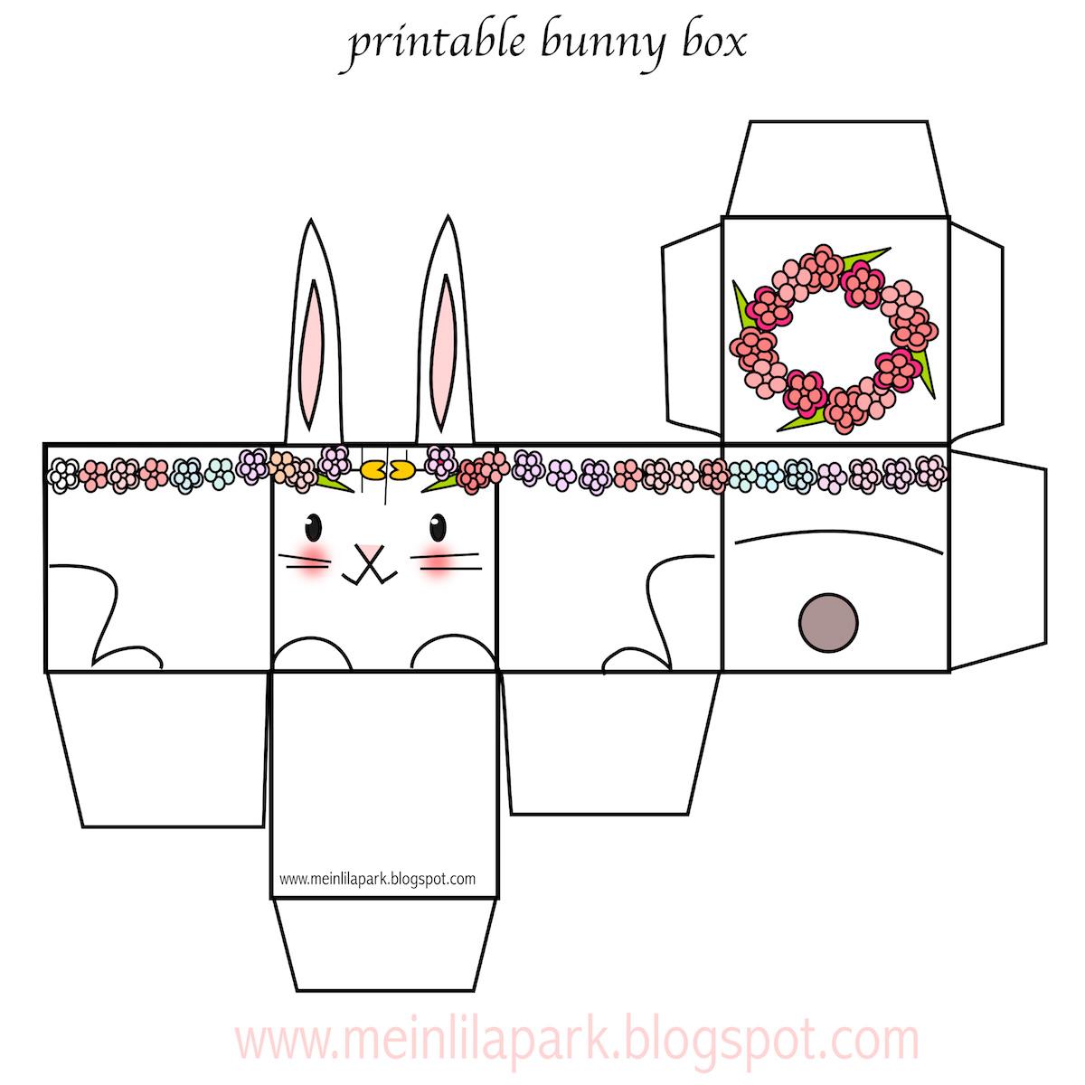 Free printable easter bunny box ausdruckbare diy box freebie free printable easter bunny box ausdruckbare diy box freebie negle Images