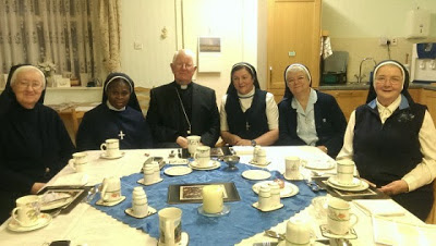 Bishop of Lancaster and nuns
