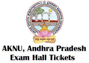 AKNU Degree Exam Hall Tickets 2018 PDF
