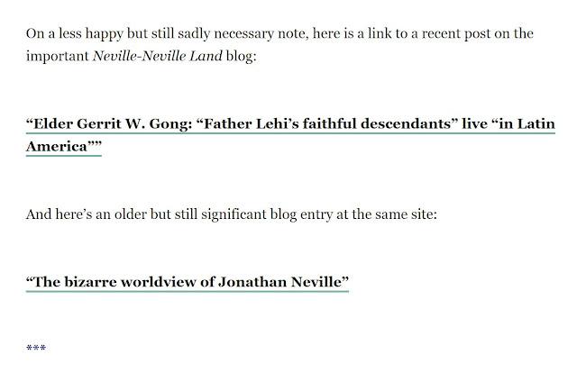 Jonathan Neville's screenshot of Daniel Peterson's April 6, 2021, Sic et Non blog post