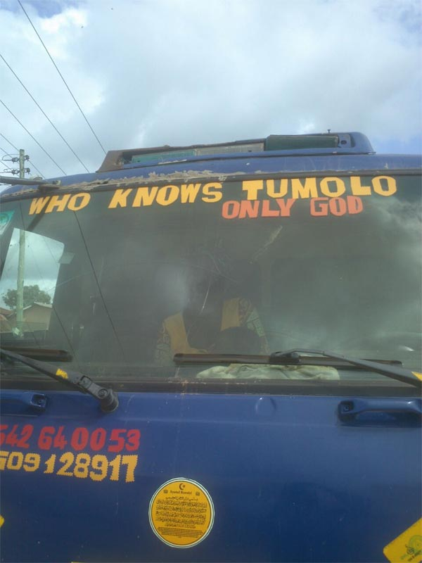 Check out this hilarious inscription found on a commercial vehicle