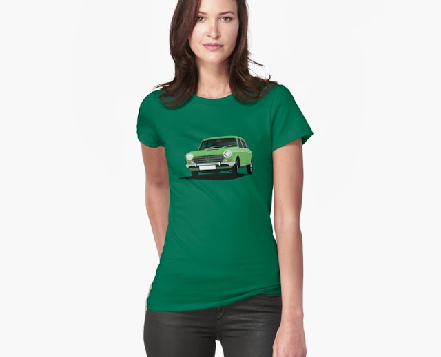british car t-shirt morris 1800 t-shirt green