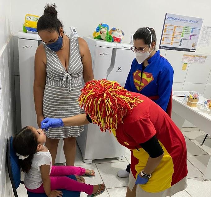 Secretaria de saúde realizou o dia D da campanha de vacinação contra a poliomielite em Grossos