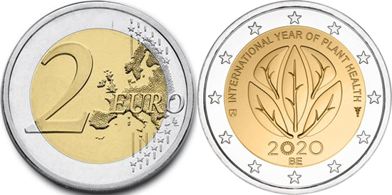 Belgium 2 euro 2020 - International Year of Plant Health