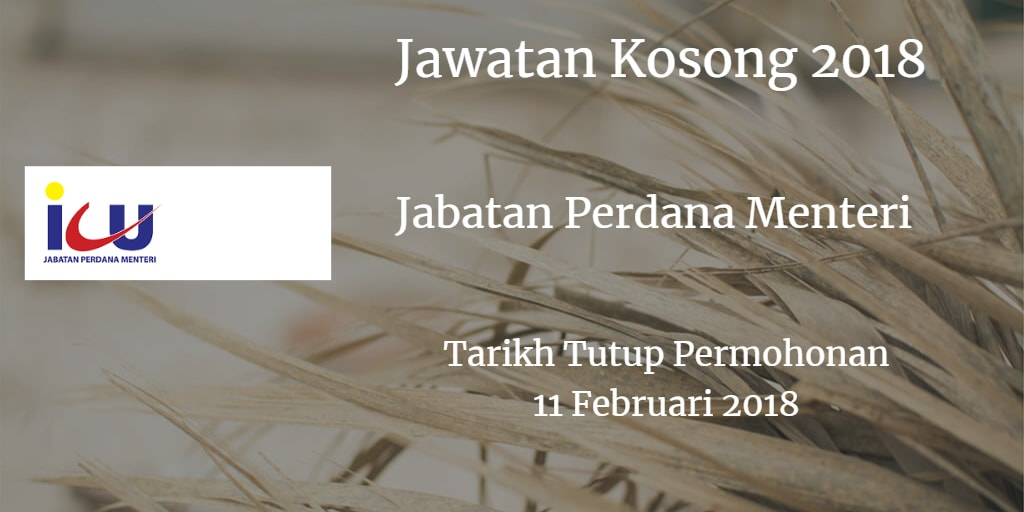 Jawatan Kosong ICU JPM 11 Februari 2018