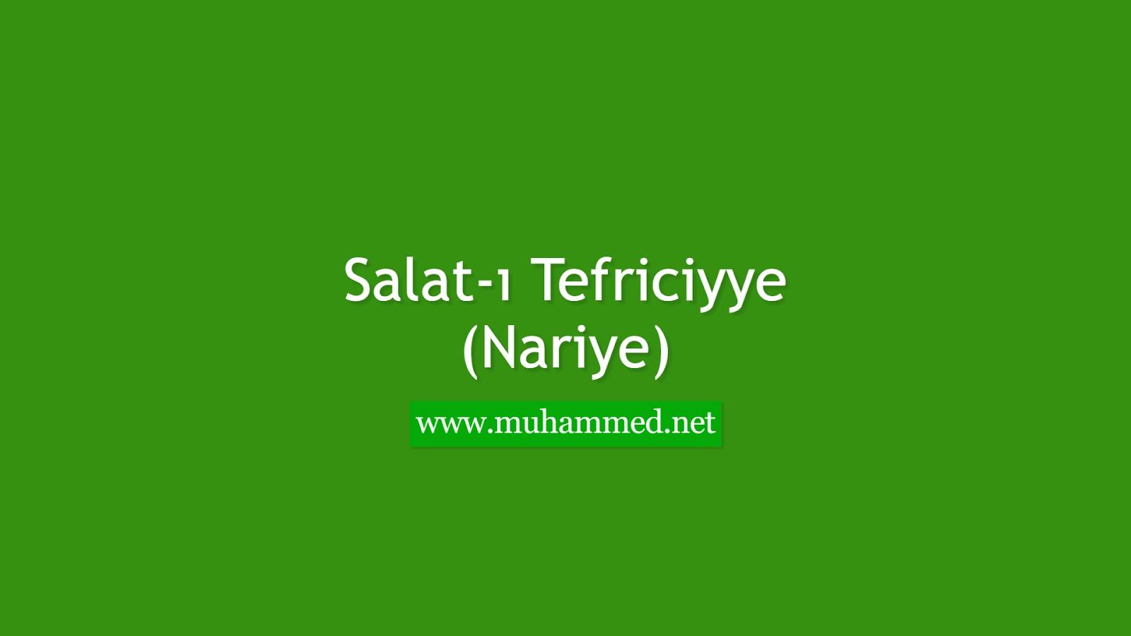 Salat-ı Tefriciyye (Nariye)