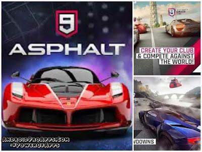 تحميل لعبة Asphalt 9 مهكره