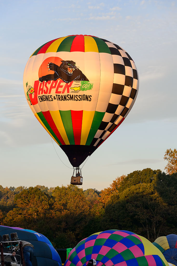 Sean Askren launches the Jasper Balloon at Carolina BalloonFest