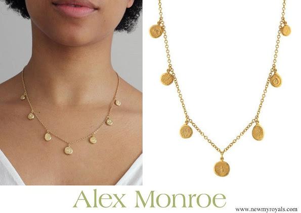 Kate Middleton accessorised Alex Monroe Paleontology Nugget Necklace
