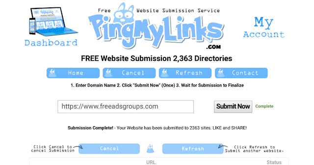 Ping my link free site submission