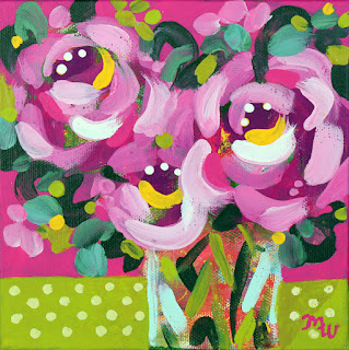Joy-filled floral painting by Merrill Weber