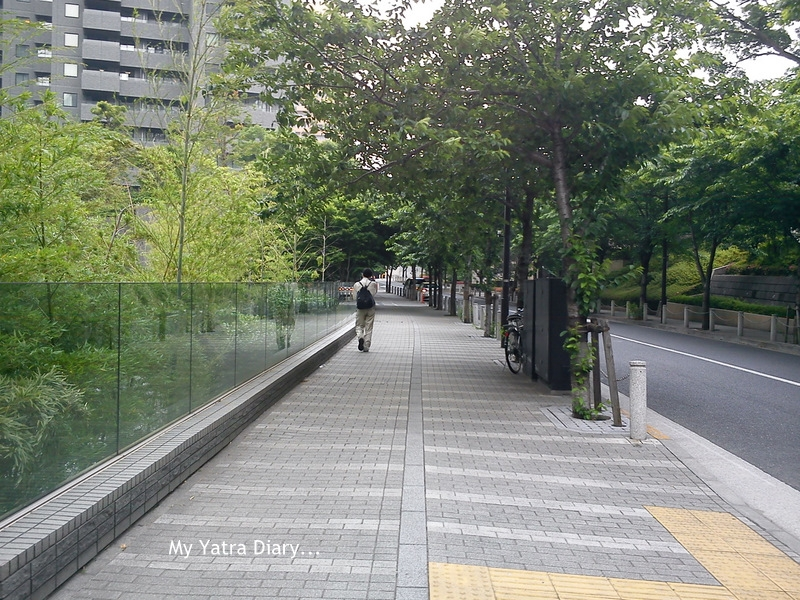 Pedestrian pathways and roadways, Tokyo - Japan