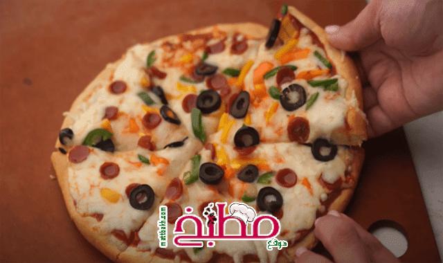 طريقة بيتزا الطاسة
