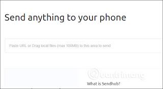 Send file to SendHub