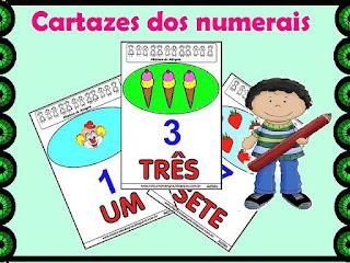 Cartazes dos numerais