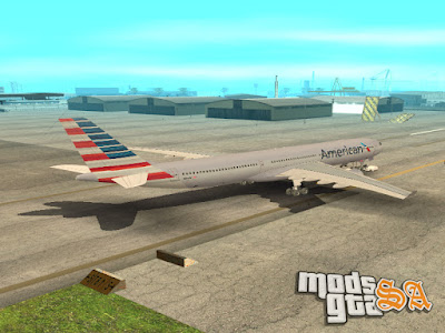 Aviao Airbus A330-323X American Airlines para GTA San Andreas