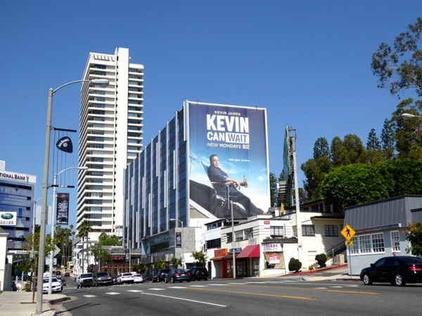 Giant Kevin Can Wait TV billboard Sunset Strip