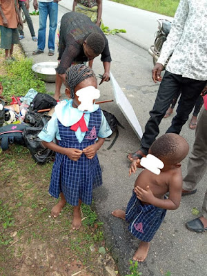 Mother & Her Kids Escape Death In Terrible Accident On Way To School (Photos)