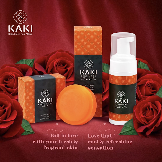 Modern ageing with grace-empowered Kaki persimmon soap