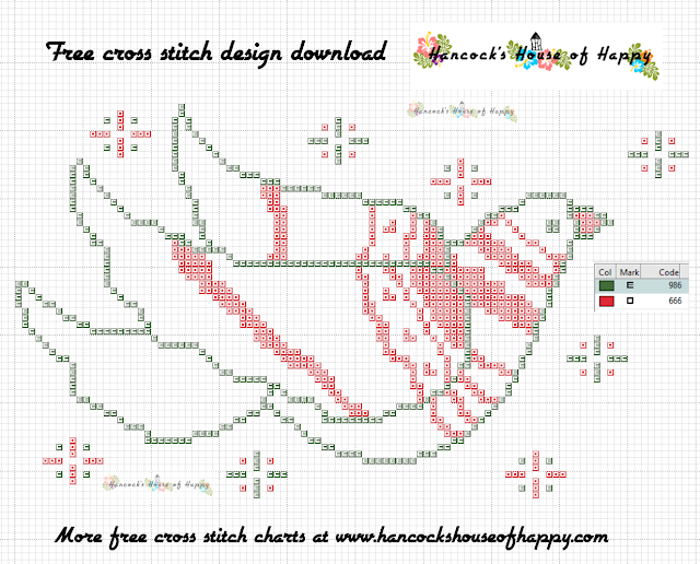 Free Festive Christmas Peace Dove Cross Stitch Pattern to Download
