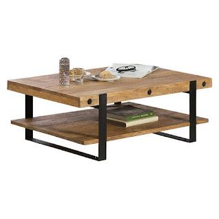 mesa de centro rustica forja