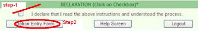 how to put ceep web options in online