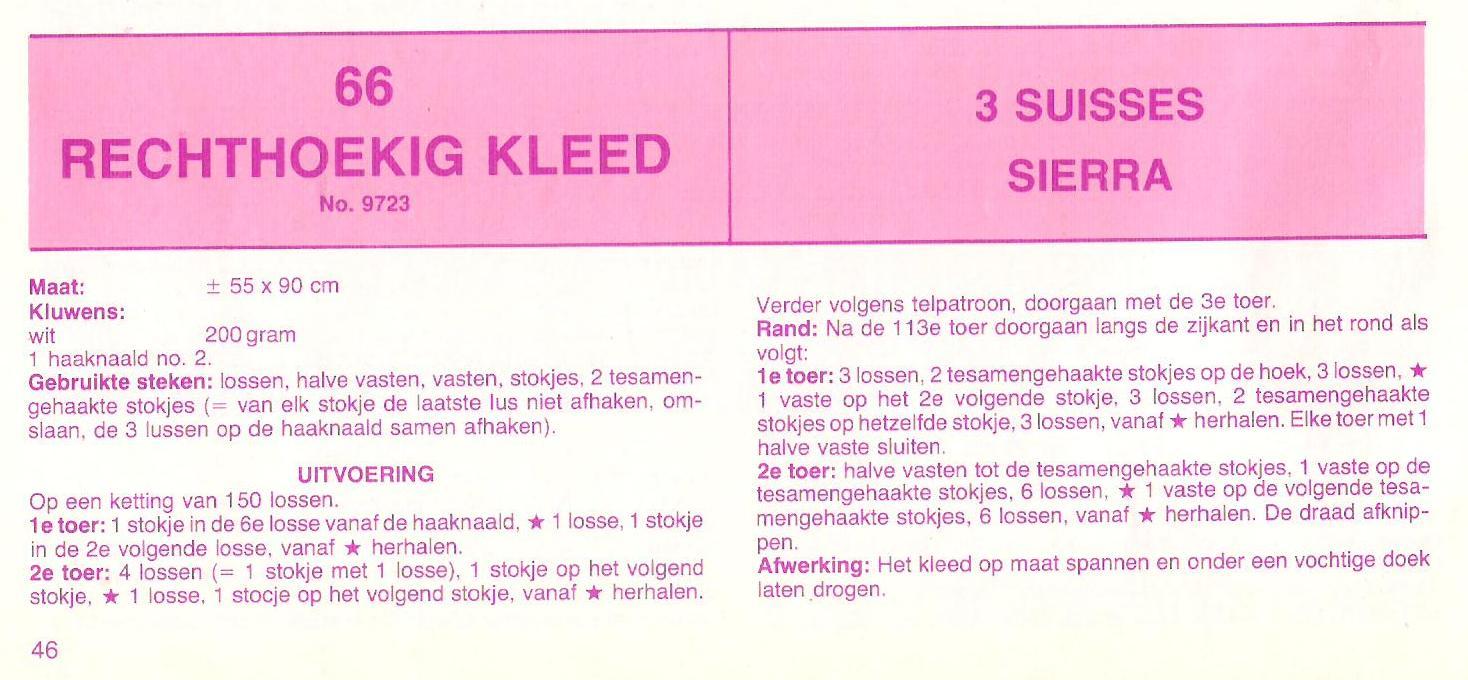 Tafelloper Tafelkleed Salontafel Om Zelf Te Haken Tijdloos Model