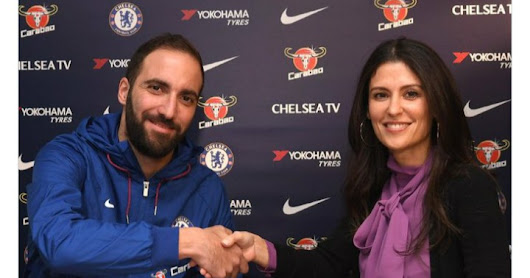 DONE DEAL: Chelsea Sign Gonzalo Higuain on loan From Juventus (Photos)