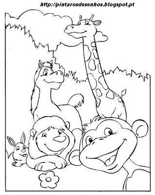 desenhos para colorir desenhar e pintar desenhos de animais para