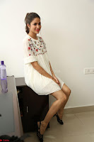 Lavanya Tripathi in Summer Style Spicy Short White Dress at her Interview  Exclusive 157.JPG