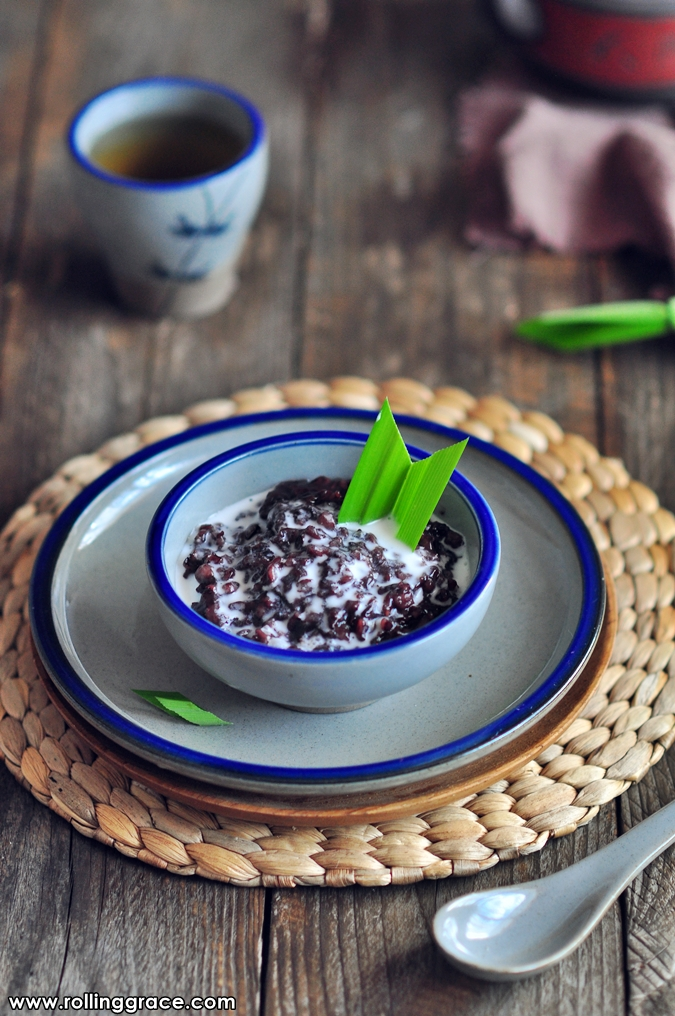how to cook black glutinous rice in rice cooker