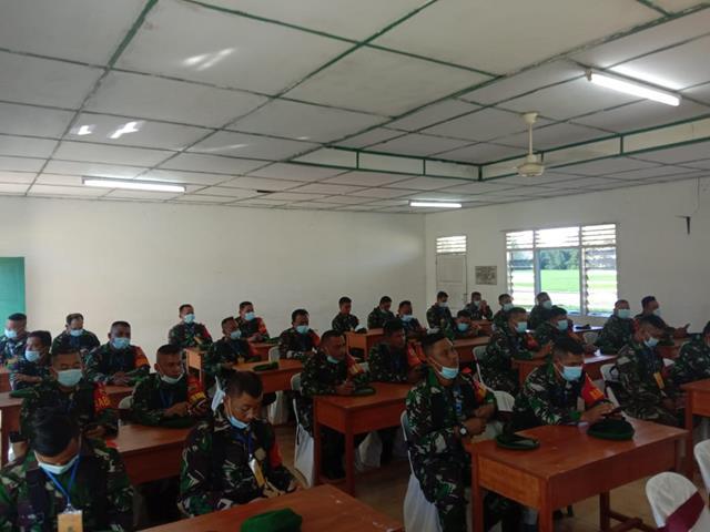 Personel Jajaran Kodim 0207/Simalungun Turut Hadiri Sosialisasi Pendayagunaan Koramil Model SMT I TA. 2021