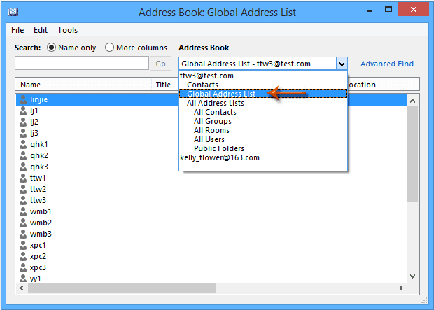 How to Sync Global Address List with Outlook Contacts?