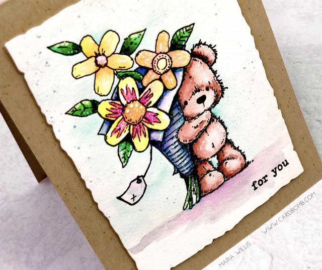 maria willis, Cardbomb, #pennyblack, #cards, #stamp, #ink, #paper, #cardmaker, #cardmaking, #handmade, #handmadecards, #papercraft, #craft, #create, #color, #watercolor, #arteza, #artezarealbrushpens,